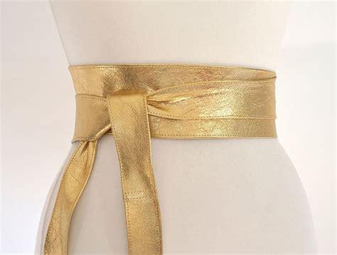 Belt Gold gold leather obi belt 3 quot wide uk made tie belt uk