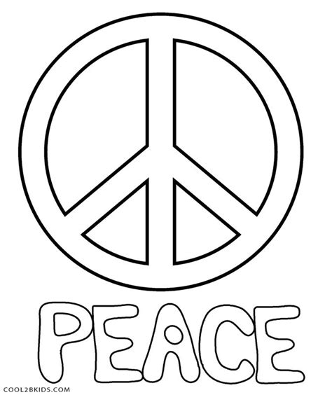Peace Sign Coloring Pages Printable Sketch Coloring Page Peace Coloring Pages