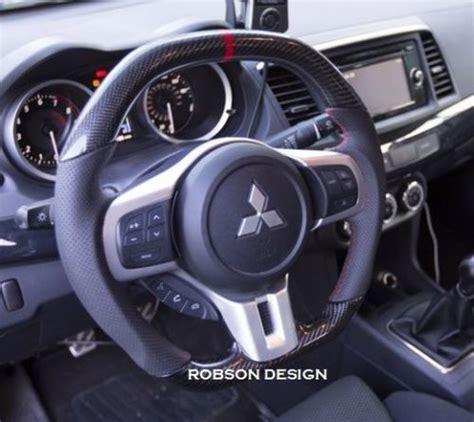 Evo X Interior Upgrades by Mitsubishi Evo X Steering Wheel Robson Design Carbon