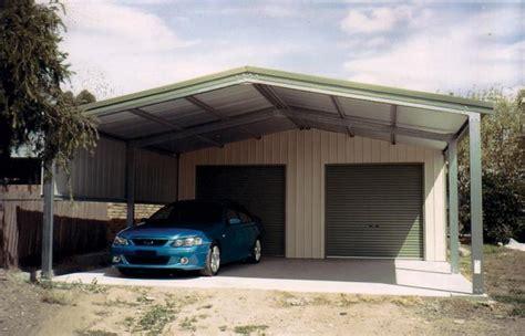 carport und garage garage kits wide span sheds