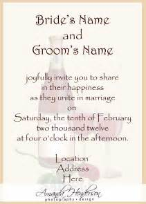 Wedding Reception Invitation Wording After Private Ceremony Wedding Invite Wording 21st Bridal World Wedding Ideas And Trends
