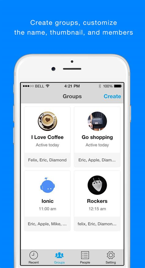 ionic starter messenger ionic marketplace