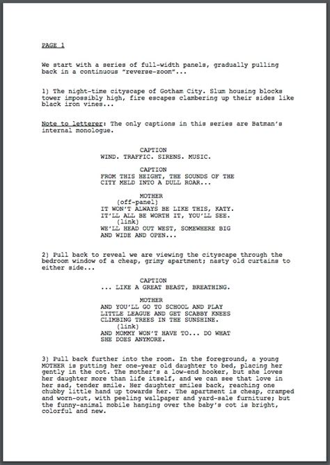 comic book script template comic book