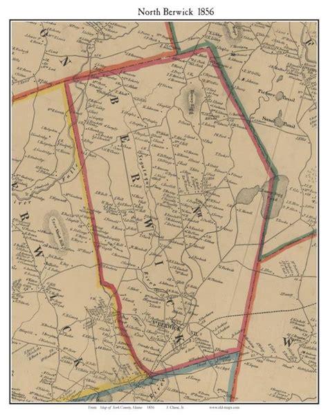 South Berwick Kittery York Me York County Maine Single Map Reprints