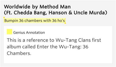 house of chambers lyrics bumpin 36 chambers with 36 ho s worldwide lyrics meaning