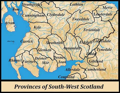 West Scotland last of the westland whigs map of south west scotland