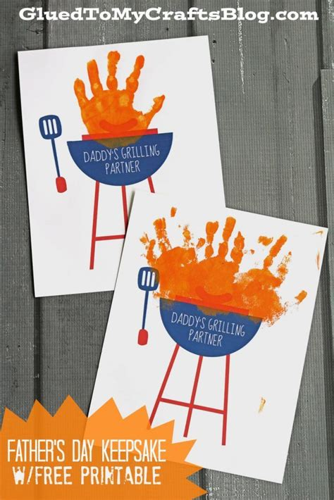 s day card arts and crafts template handprint s grilling partner keepsake w free