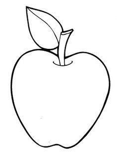 blank apple coloring page blank handprint template clipart best