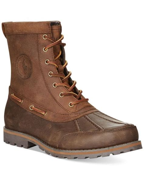 ralph duck boots polo ralph whitesand duck boots in brown for
