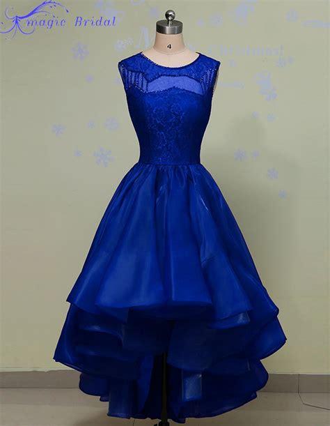 pattern dress short front long back long royal blue lace evening dress short front long back