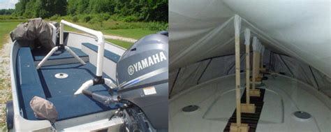 homemade pontoon boat covers diy boat cover support system do it your self
