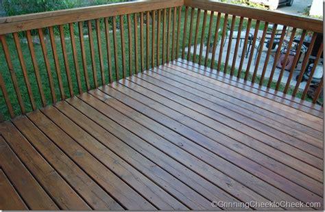 sunshine means deck staining grinning cheek  cheek