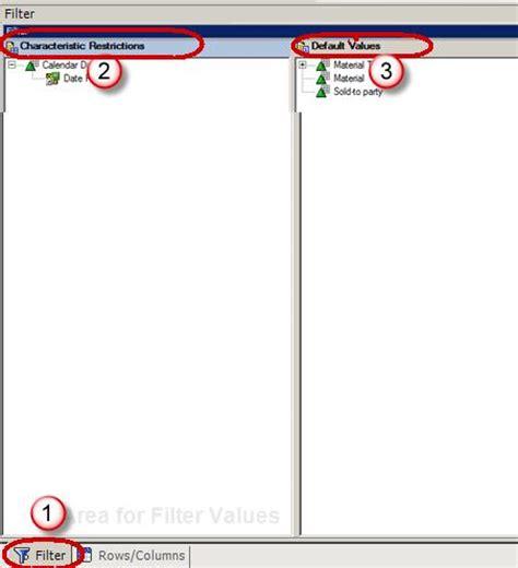 sap wad tutorial sap bex query designer tutorial query elements
