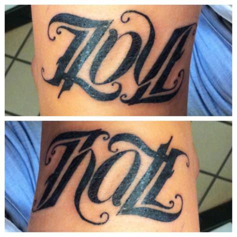 hate tattoo designs ambigram www imgkid the image kid