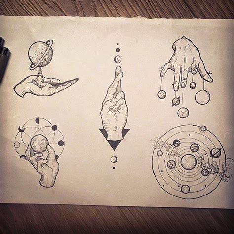 minimalist tattoo flash planetas universo dise 241 os art tatuajes drawings