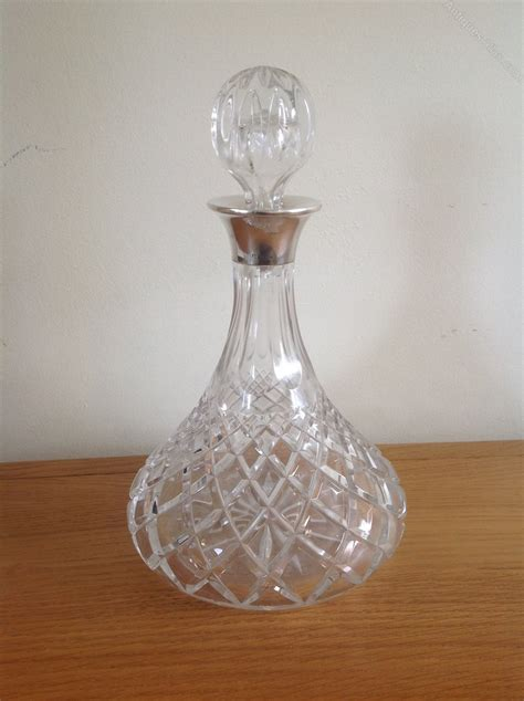 cut crystal vessel antiques atlas ships silver and hand cut crystal decanter