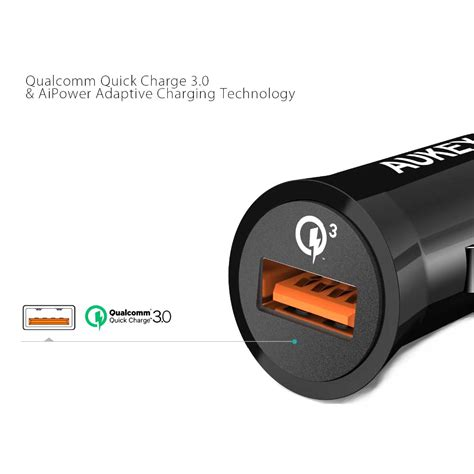 3a Aukey Fast Charger 30 2 Port Adapter Wall Android Iphone Usb aukey charger mobil 1 port 19 5w 3a qc3 0 cc t10 black jakartanotebook
