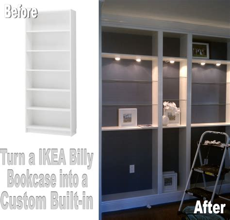 custom bookshelves diy s diy projects turn an ikea billy bookcase into a custom built in
