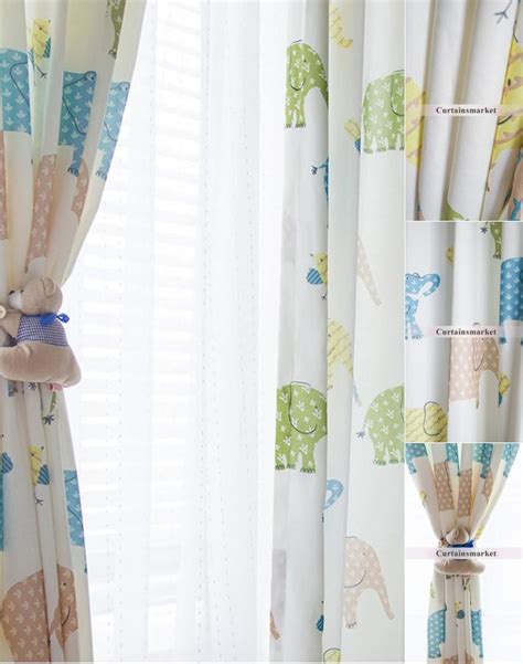 fun drapes fun home kids curtains and drapes with cute elephants