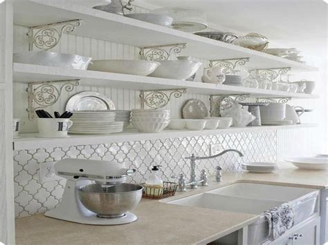 white kitchen backsplash tile beveled arabesque