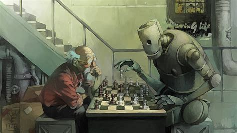 film robot old man chess grandfather boxes wallpapers and images