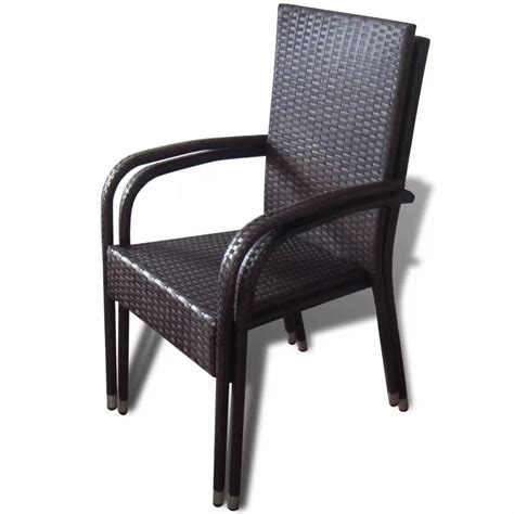 Vidaxl Co Uk Brown Poly Rattan Garden Furniture Dining Poly Wicker Outdoor Furniture