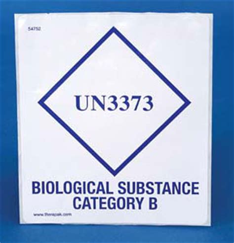printable un3373 label therapak un3373 biological substance category b labels