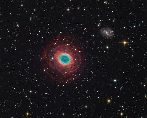 m57 ring nebula with ic1296