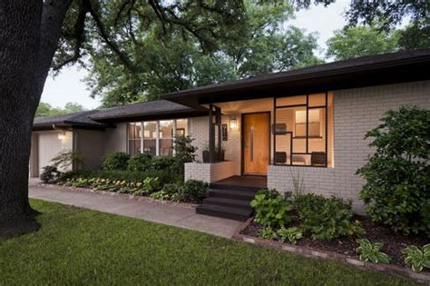 1960s ranch style home remodeled exterior home renovation