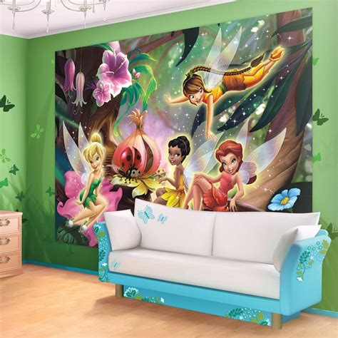 purple walls that look like tinkerbell just flew threw the 11 cute fairy wall murals and fairy wall decals for girls