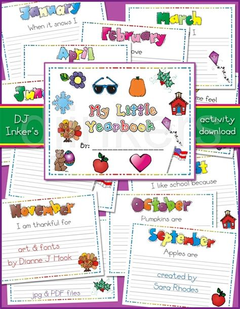 yearbook layout activities a printable yearbook for kids created by sara rhodes