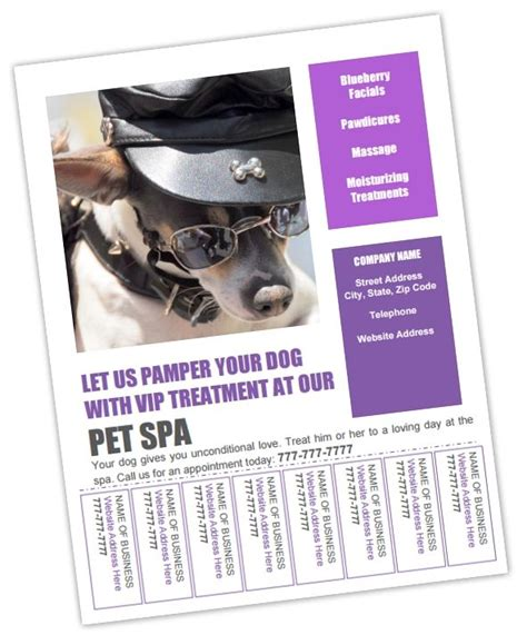 Free Grooming Flyer Templates