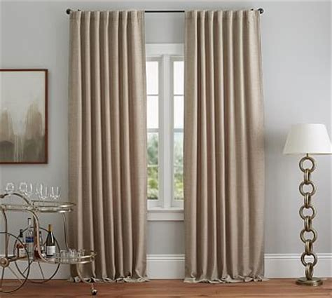 window treatments pottery barn everyday drape 84 quot neutral window treatments