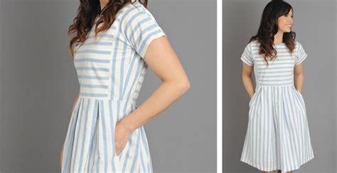 Dress 01300701 Two Colour chambray stripe dress 2 colors
