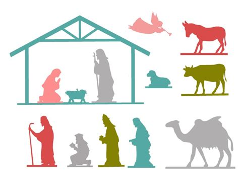 printable nativity scene cutouts nativity scene silhouette template www imgkid com the