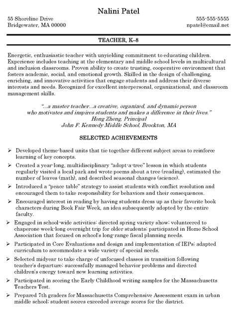 resume for preschool teacher sample resume teacher resume nursery