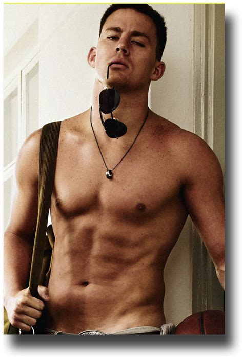 Channing Tatum Poster ? Promo Flyer Shirtless   Concert Posters