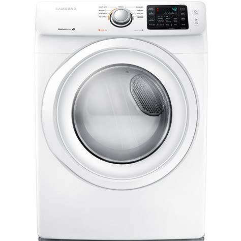 samsung dryer samsung 7 5 cu ft electric dryer in white dv42h5000ew the home depot