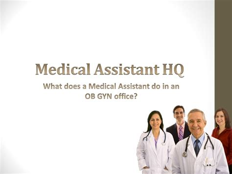 job description for medical assistant medical assistant job job