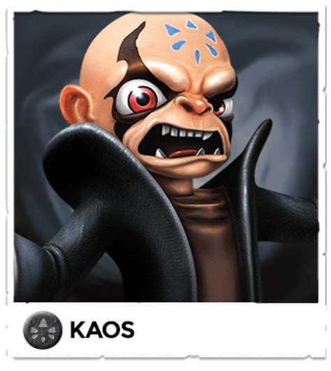 Kaos Cek Out skylanders trap team official site
