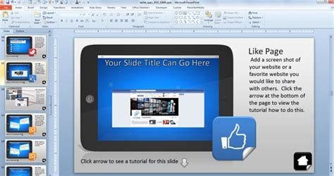 interactive ppt template using interactive powerpoint presentations with tablet
