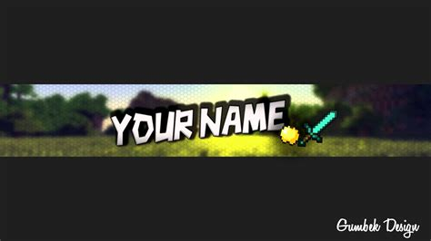 minecraft youtube channel art template 4 free photoshop