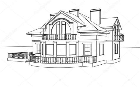 3d House Sketch bir ev 231 izim eskiz stok foto 169 sergeymansurov 30934691