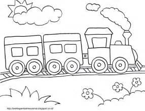 gambar mewarnai kereta api anak paud tk aneka gambar mewarnai