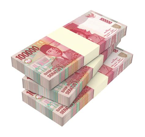 background uang indonesian rupiah money isolated on white background