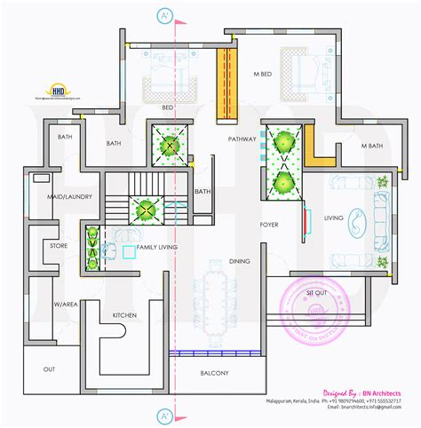ground floor plan drawing day night view of elevation and floor plan kerala home