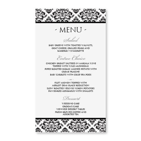 sle menu cards templates diy menu card template instant edit by karmakweddings