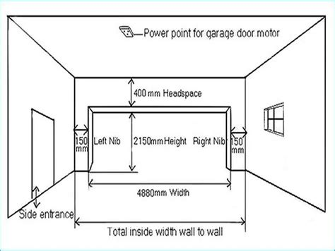 Garage Door Width Uk Wageuzi Width Of Single Garage Door