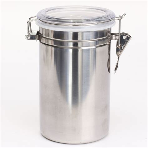 stainless steel sealed airtight canister coffee tea sugar