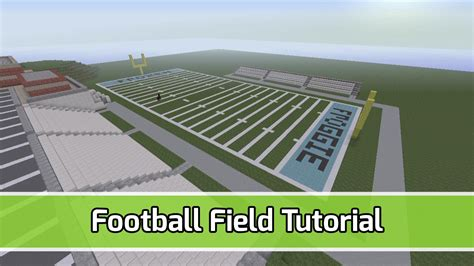 minecraft football field with bleachers tutorial youtube